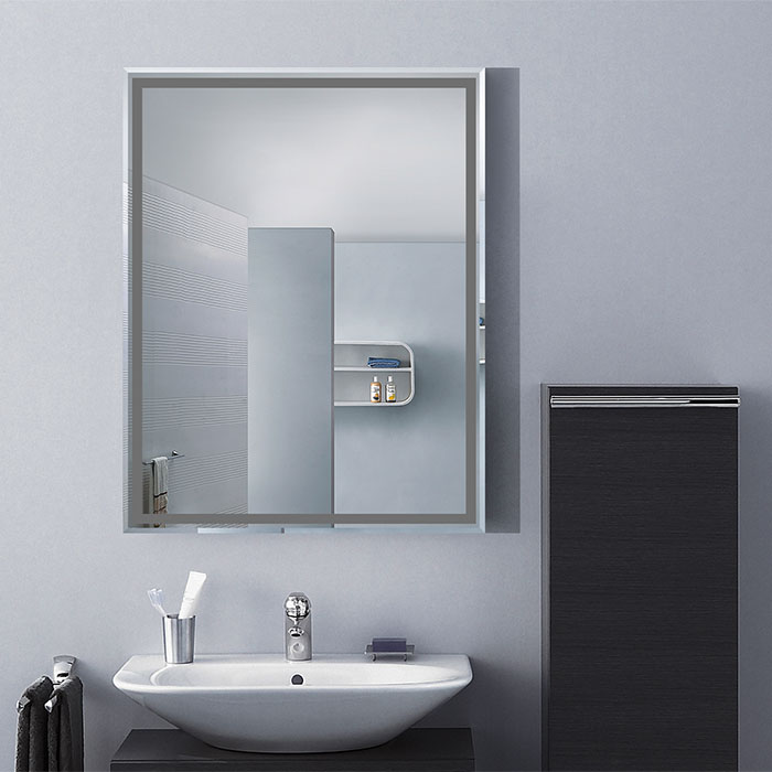 24 x 18 po miroir mural salle de bain classique for Miroir sans reflet