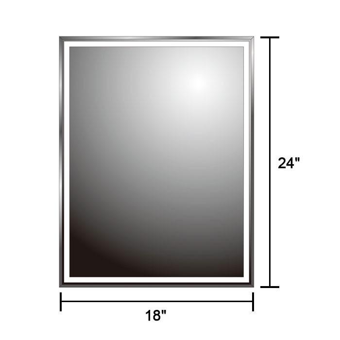 24 x 18 po miroir mural salle de bain classique for Miroir mural rectangulaire sans cadre