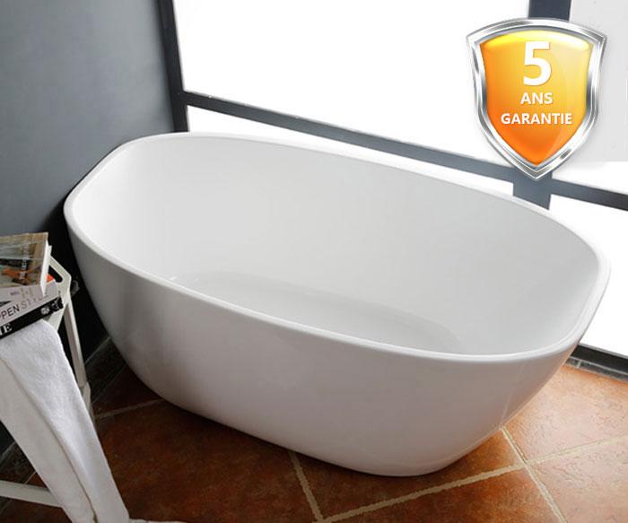 67 po baignoire autoportante en acrylique sans soudure dk for Hauteur baignoire encastrable