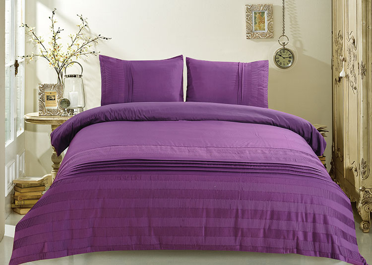 ensemble housse de couette 3 pi ces violet dk lj013 decoraport canada. Black Bedroom Furniture Sets. Home Design Ideas