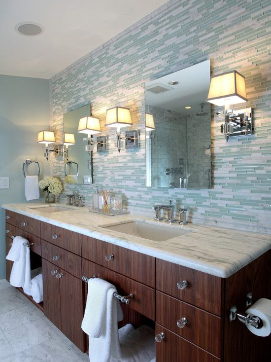 bathroom vanity backsplash ideas how to clean and maintain glass tiles decoraport 16150