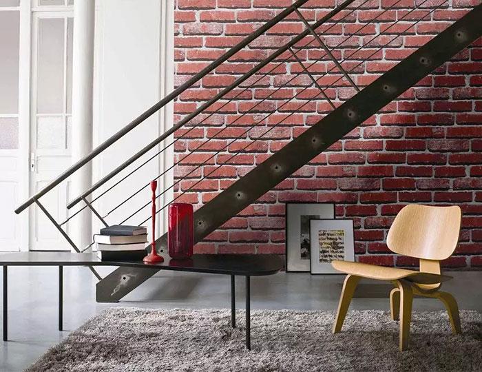 papier peint rustique en brique imitation dk se453001. Black Bedroom Furniture Sets. Home Design Ideas