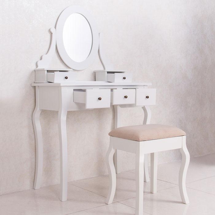 Bedroom makeup vanity set with mirror and stool ji13004 for Bedroom vanity canada