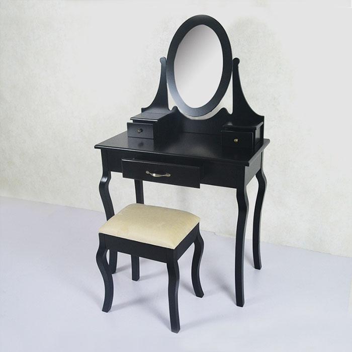 Coiffeuse avec tabouret et miroir ji3305 decoraport canada - Coiffeuse avec tabouret ...