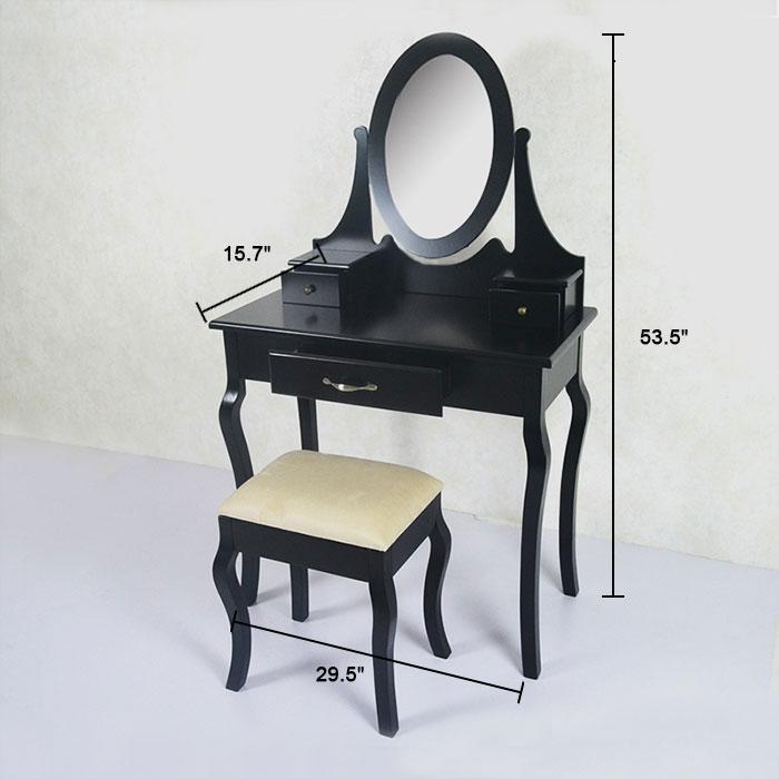 Coiffeuse avec tabouret et miroir ji3305 decoraport canada - Coiffeuse et tabouret ...