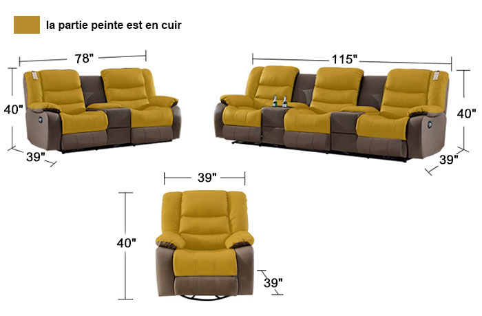 Canapé Angle Relax