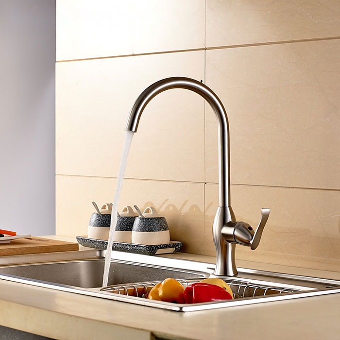 Robinet de cuisine en acier inoxydable sans plomb 250107 - Robinet cuisine solde ...