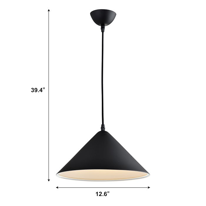Suspension moderne en m tal noir hkp31384 1 for Suspension moderne noir