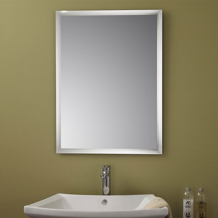 Decoraport frameless bathroom vanity wall silvered mirror for Miroir sans cadre