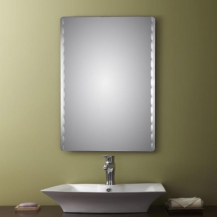 Decoraport Frameless Rectangle Bathroom Vanity Wall Hall
