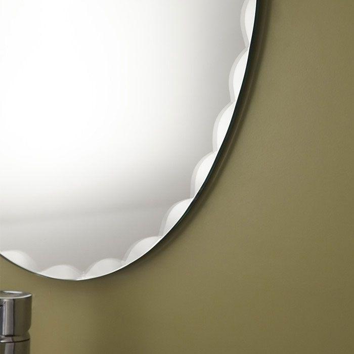 23 x 31 po miroir argent sans cadre de salle de bains for Miroir sans cadre
