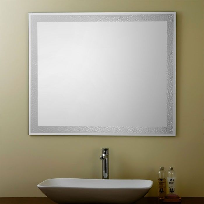 Decoraport frameless rectangle bathroom vanity wall hall for Miroir argente