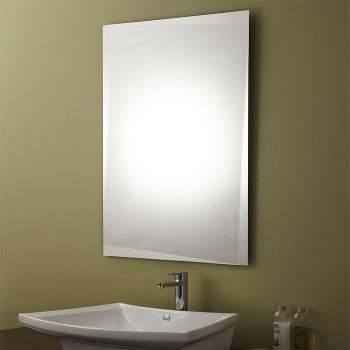 24 x 32 po miroir argent sans cadre de salle de bains for Miroir sans reflet