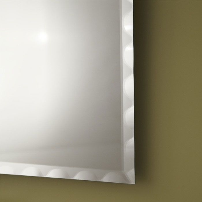 Decoraport frameless rectangle bathroom vanity wall hall for Reflection bain miroir