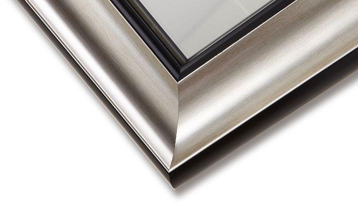 Miroir Argent avec Cadre de Salle de Bains