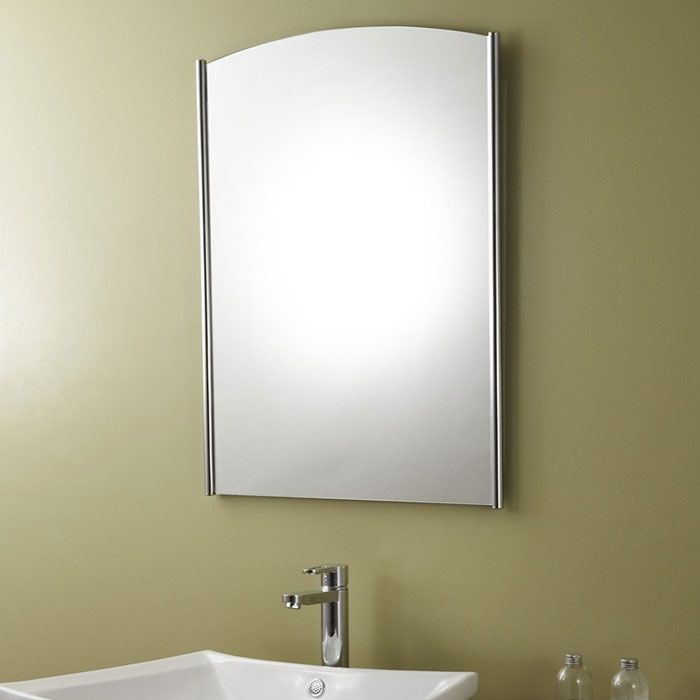 Vertical Stainless Steel Framed Bathroom Silvered Mirror/24 Inch x ...