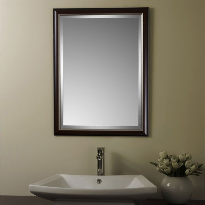 Decoraport Reversible Framed Bathroom Vanity Wall Silvered Mirror Decora Beveled Ebay