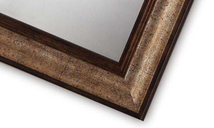 Imitation Wood Frame Mirror