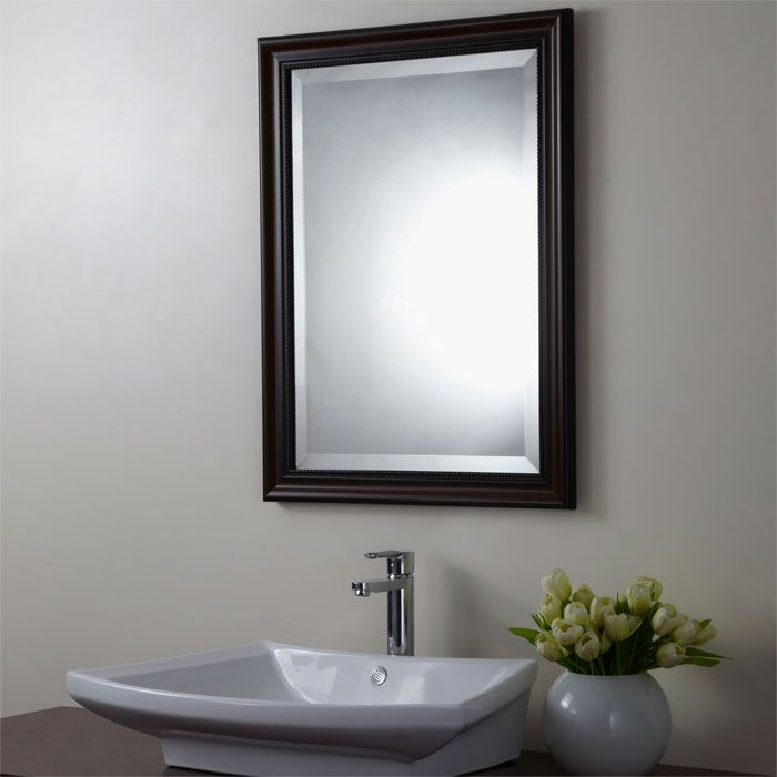 Decorative Bathroom Vanity Wall Mirrors : Decoraport reversible framed bathroom vanity wall hall